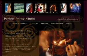website for Perfect Prime Music