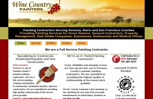 website for Wine Country Painters