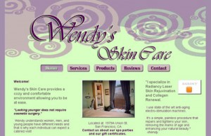 website for Wendy's Skin Care