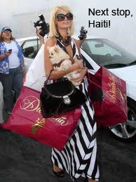 Paris Hilton goes to Haiti