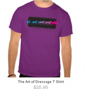 After9Design dressage T shirt on Zazzle