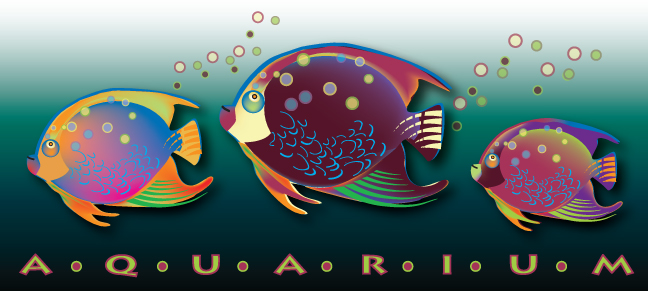 vector illustration of aquarium fish